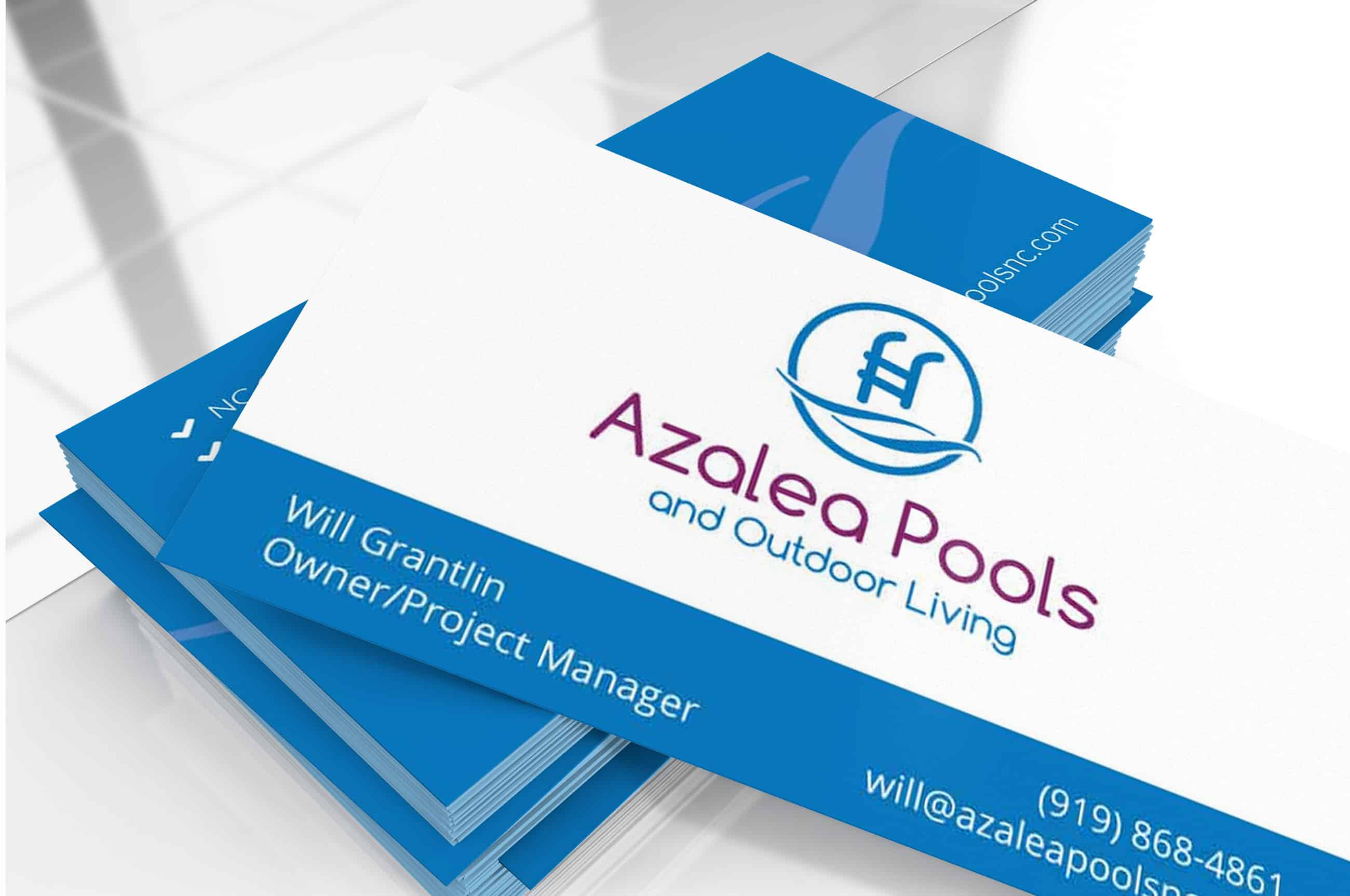 business card design pool compnany