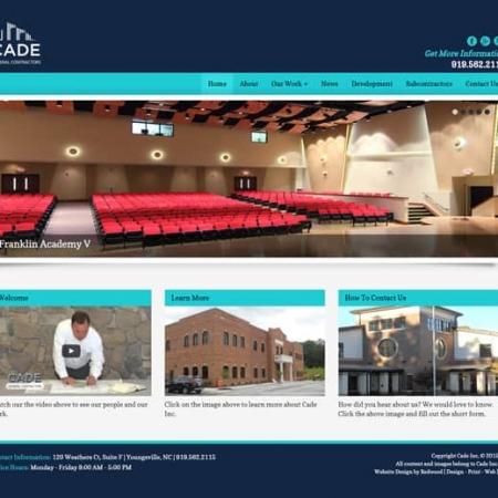 Cade General Contractor Website