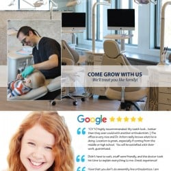 Carolina Orthodontics and Pediatric Dentistry Dental Practice Brochure Design Back