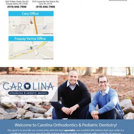 Carolina Orthodontics and Pediatric Dentistry Dental Practice Brochure Design