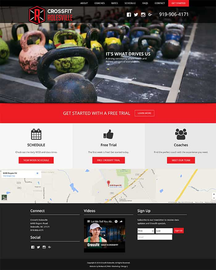 Crossfit Rolesville Website Design