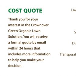 Crownover Green Landscaping Business Card Design Quote