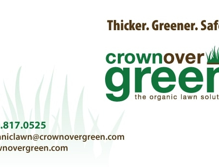 Crownover Green Landscaping Business Card Design