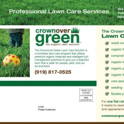 Crownover Green Landscaping Postcard Design Back