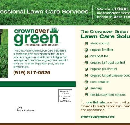 Crownover Green Landscaping Postcard Design Back