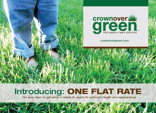 Crownover Green Landscaping Postcard Design Front