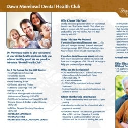 Dawn Morehead Dental Brochure Design