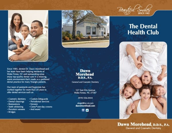 Dawn Morehead Dental Practice Brochure Design