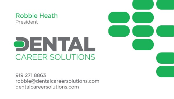 Dental Career Solutions Education Business Card Design