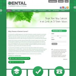 Dental Career Solutions Education Website Design