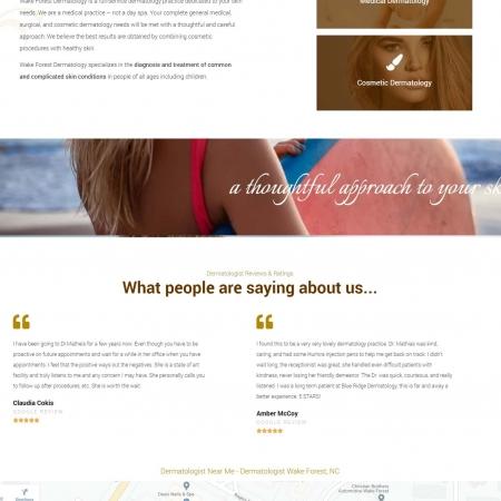 dermatologist website design