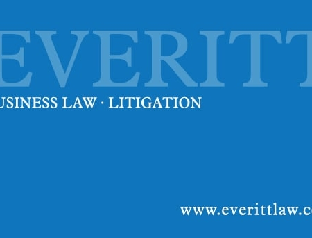 Terence Everitt Law Firm Business Card Designs