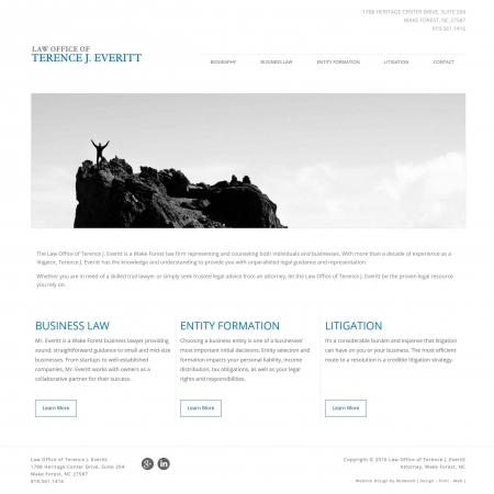Terence Everitt Law Firm Web Design