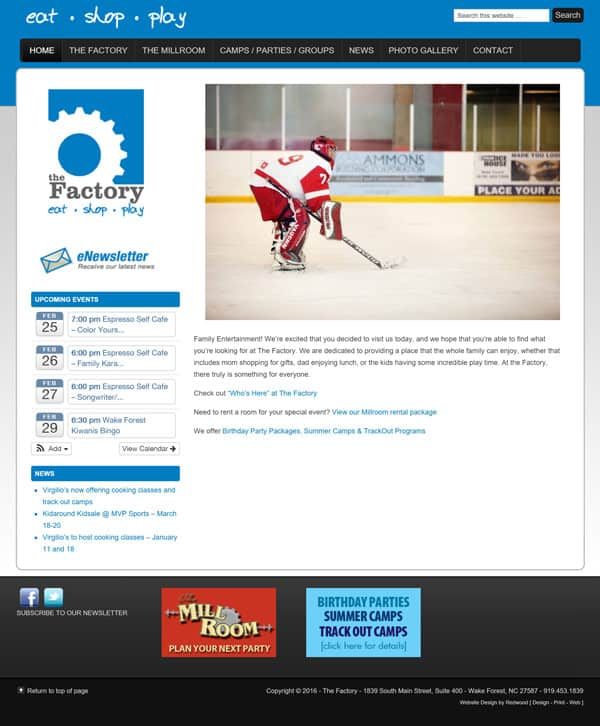 Sports Complex Website Design & Website Development