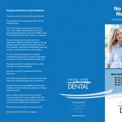 Falls Lake Dental Practice Brochure Outside