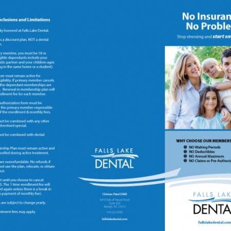 Falls Lake Dental Practice Brochure Outside