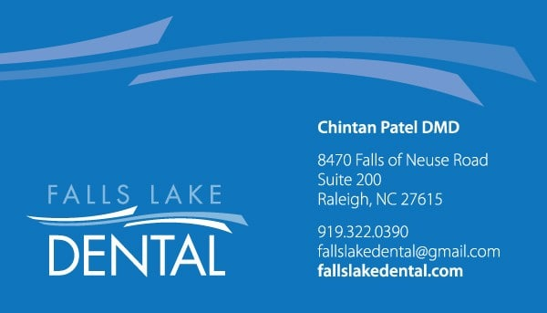 Falls Lake Dental Business Card