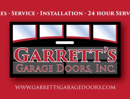 Garrett's Garage Door Business Card Design Back