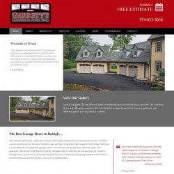 Garrett's Garage Door Web Design & Development