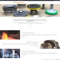 Metal Products Website Design