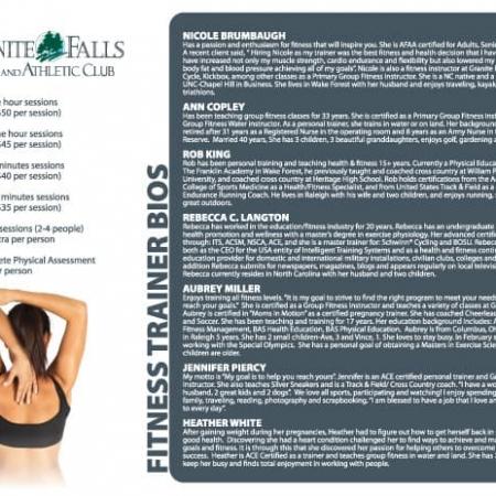 Granite Falls Athletic Club Brochure Design