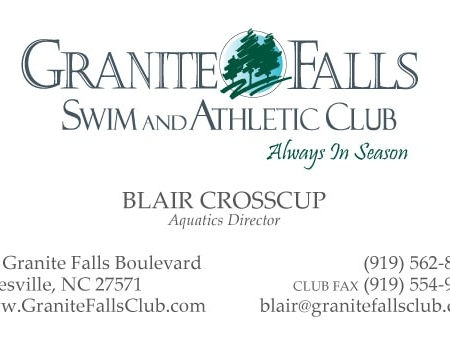 Granite Falls Athletic Club Business Card Design