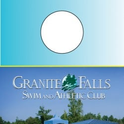 Granite Falls Fitness Door Hanger Design