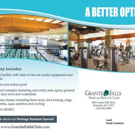 Swim & Athletic Club Fitness Postcard