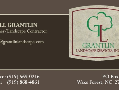Grantlin Landscape Landscaping Business Card Front