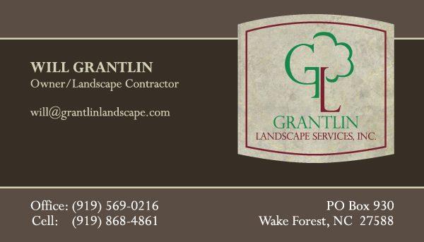 Grantlin Landscape Business Card Front