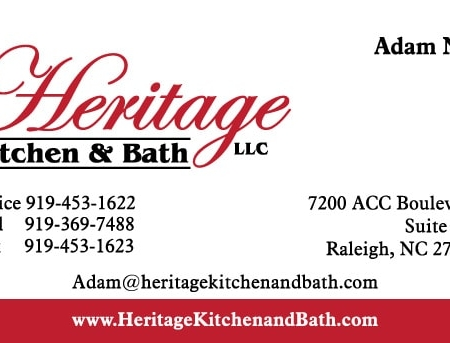 Heritage Kitchen & Bath General Contractor Kitchen Business Card Design