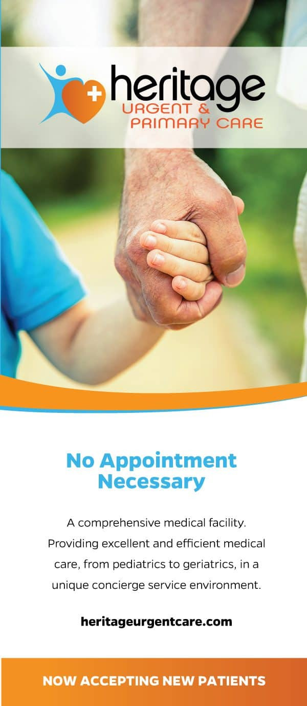Heritage Urgent & Primary Care Brochure Design Cover
