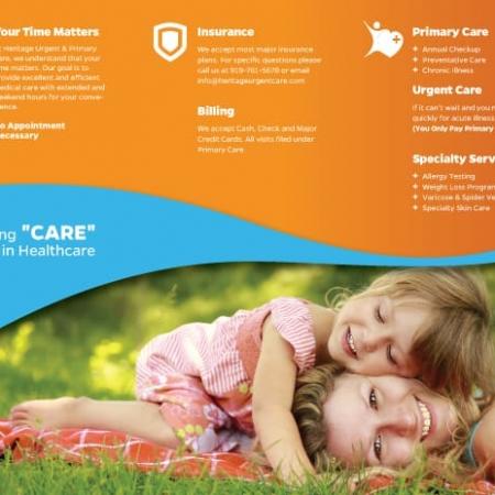 Heritage Urgent & Primary Care Brochure Design Inside