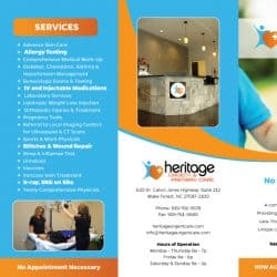 Heritage Urgent & Primary Care Brochure Design Outside