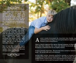Hope Reins Non Profit Brochure Design Outside