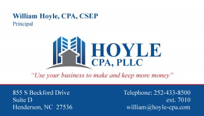 Hoyle Accounting Business Card Design