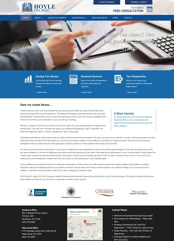 Hoyle Accounting Web Design & Web Development