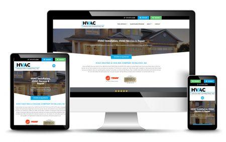 HVAC Company Website Design