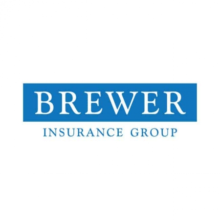 insurance logo design brewer insurance