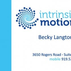 Intrinsic Motion Fitness Business Card Design
