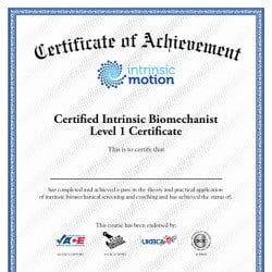 Intrinsic Motion Fitness Certificate Design