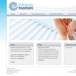 Intrinsic Motion Fitness Training Website Design