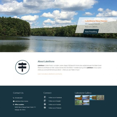 LakeStone Land Development Website Design & Development