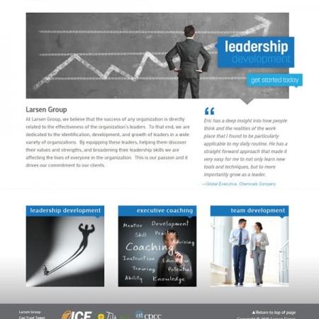 Larsen Group Executive Coaching Web Design & Developement