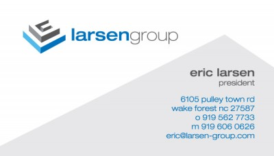 Larsen Group Executive Coaching Business Card Design