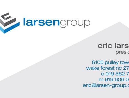Larsen Group Executive Coaching Business Card Design
