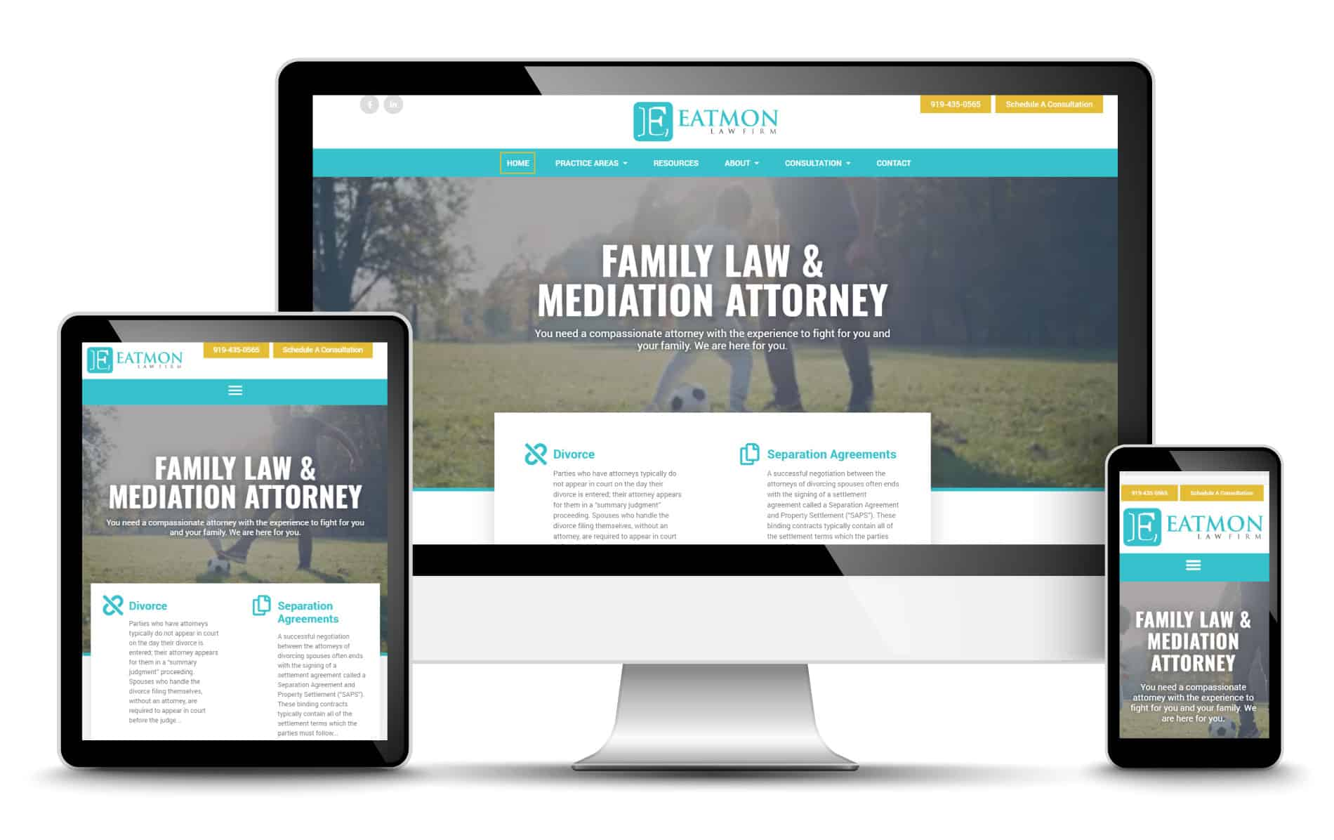law firm attorney website design development