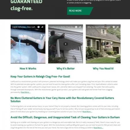 LeafGuard Home Improvement Web Design & Development