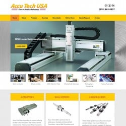 Motion Control Products Website Design