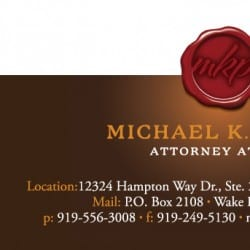 Lawyer Business Card Design